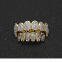 Hip Hop Grillz For Man High Quality Full Diamond Hiphop Gril...