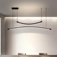 pendentif LED moderne lumière des lustres suspendus linéaires nordiques lampe dans la cuisine salle à manger intérieure appareils d'éclairage
