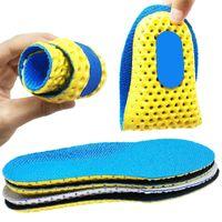 Memoria plantillas de la espuma para los zapatos de suela de malla transpirable Cojín Desodorante Ejecución de las plantillas del cojín ortopédico Hombre Mujeres