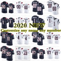 1 Cam Newton New Custom Inglaterra Football Jersey Patriot Stephon Gilmore Dont'a Hightower Matthew Slater N'Keal Harry James White Winovich