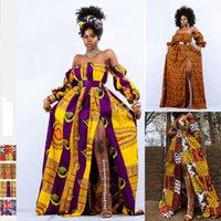 Señoras ropa africana 2020 Noticias del hombro del vestido de Dashiki Imprimir manga larga Ropa Maxi Plus Size Vestidos Africano de la Mujer CX200813