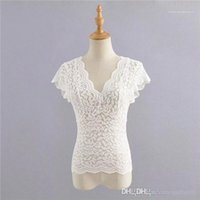 Hollow Solid Color Femal Clothing Summer Casual Apparel Womens Sexy Lace Designer Tshirts Crew Neck Short Sleeve
