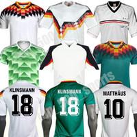 كأس العالم 1990 1992 1994 1994 1998 1988 ألمانيا الرجعية Littbarski Ballack Soccer Jersey Klinsmann Matthias Home Shirt Kalkbrenner Jersey 1996 2004