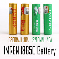 100% de alta calidad IMR 18650 3500mAh 3.7V 30A 18650 baterías recargables de litio Fedex envío