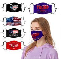 Trump2020 лицо Маски с фильтром Slot Американских Выборов пыл Камуфляж Защитных масками Флаг США Мода хлопок Маска для лица FY9161