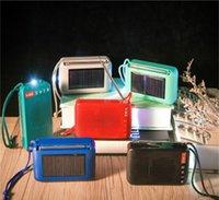 Nueva lámparas solares altavoz del bluetooth inalámbrico de carga solar con radio FM linterna TWS bluetooth luces LED del altavoz