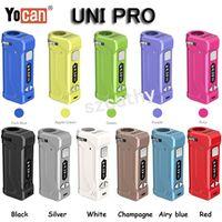 Autêntica Yocan Uni Pro bateria Vape Mods 650mAh Pré-aqueça Baterias VV Ajustável Altura e Largura Para Caber todos os 510 Cartucho de Óleo E Cigarro