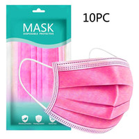 10pcs Hot Pink à usage unique bouche Masques respirant confortable Shields visage Mascara Mascara visage de protection