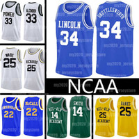 NCAA Jesús Shuttlesworth Lincoln jerseys Una mala jugada película de Will Smith Giannis LeBron James Antetokounmpo El príncipe de Bel-Air Academia