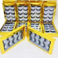 NEW ресницу 5Pairs / комплект 10Styles 3D норка волос Ресницы ложных ресниц Handmade природных Длинные Ресницы пушистые ресницы Многоразовые 6d норковые Lashes