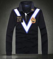 hommes de luxe de haute qualité design à manches longues polo t-shirt avec polo mode casual coton technologie de broderie T-shirt-5XL