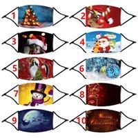 Маски США STOCK Дети взрослых лица Рождество партия Маска против пыли Снежинка рождественской Mouth Обложка моющейся многоразовой с помощью фильтров