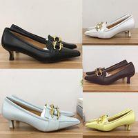 2020 Nuevos zapatos de vestir de tacones altos de moda superior con accesorios de hebilla de caballo de oro Australia Soft becerro piel de novia zapatos de boda