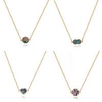 Summer Love semplice stile geometrico Shell Collana in oro a lunga catena accessori della collana dei monili delle donne sveglio di rame