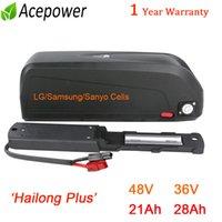 Hailong Inoltre E-Bike batteria 48V 21Ah Come ospite con Sanyo / Samsung cellulare agli ioni di litio per 1000W Bafang 45ABMS 1500W 36V 20Ah 28Ah for500w Moto