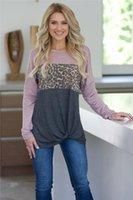 Neck Blouse Fashion Designer Hot Style Leopard Print Long Sleeve T-shirt Casual Female Clothing Spring Women Crew
