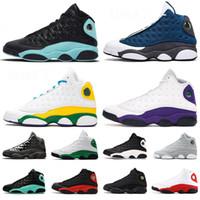 Jumpman 13 13s Bahçesi Erkekler Basketbol Ayakkabı Flint Şapkanız Ada Yeşil Bred mahkeme mor Aurora Yeşil Kurt gri melo CP3 Sneakers