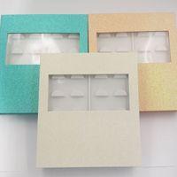7pcs wholesale 10pairs false eyelashes packaging box fake 3d mink lashes boxes faux cils strip magnetic case empty