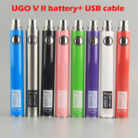 Ugo-V II Batterie 650mAh 900mAh 510 Thread Batterie Vape Starter Kits Ugo V2 Batterie mit USB-Ladegeräten für Ecig-Verdampfer-Stiftverpackung Dampf