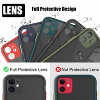 Caméra Lens protection Phone pour iPhone 11 Pro Max XS X XR 6S 7 8 Plus SE 2020 Couverture Luxe Transparent Matte PC Valises Shell