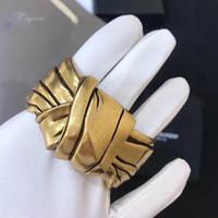 سوار أزياء جديدة خمر لون الذهب Bowknot تصميم مجوهرات عقدة سوار خمر سوار الكبير سوار الكفة حار العلامة التجارية مجوهرات