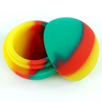 5.6 ml Mini Top Şekli Çeşitli Renk Silikon Konteyner DABS Yuvarlak Şekil Silikon Konteynerler Balmumu Silikon Kavanoz DAB Konteynerler