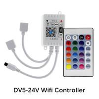 واي فاي وحدة تحكم LED RGB تحكم DC12V البسيطة 24 مفتاح IR عن بعد وحدة تحكم للأضواء 2835 5050 RGB LED قطاع