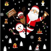 11 Styles! Weihnachtsaufkleber Weihnachtsmann Glas Aufkleber Indoor Outdoor Weihnachtsdekoration PVC-Tapeten Weihnachten Mural A11