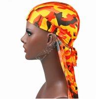 İpeksi Durag Uzun Kuyruk Dorag durags Premium İpek Waver Bandana Turban Şapkalar Peruk Hip Hop Headwrap Kafa Korsan Şapkası Cap D82409 Caps