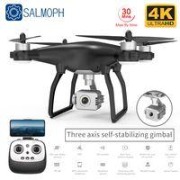 Salmof X35 Drone GPS WIFI 4 K HD Kamera ile Üç Eksenli Gimbal Profisseal RC Quadcopter Fırçasız Motor Dronları VS SG906 Pro