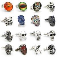 Conjuntos de clip de enlace y corbata 28 Estilos Opción Vintage Novedad Esqueleto Diseño Skull Enlaces