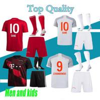 الكبار والأطفال 20 21 كرة القدم الفانيلة Home Lewandowski Muller 2020 2021 Tolisso Neuer مجموعة قمصان كرة القدم الحجم 16-XXL