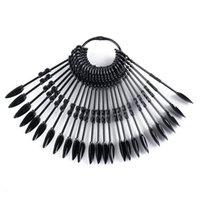 Neue freie falsche Nägel Fan-Art-Praxis Anzeige Natural Black Transparent Sticks Lack-Anzeige Acryl Tipps für Gel-Tools