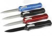 1Pcs Schmetterling 3300 AUTO taktisches Messer D2 Double Action Spear Point-Klinge CNC T6061 Griff EDC Taschenmesser mit Nylontasche