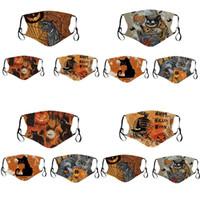 Kedi Kabak Maskesi Can koyun Filtre Parçası Cadılar Bayramı Yüz Maskeleri Polyester Kumaş Pamuk İç Mascherine Yıkanabilir Yetişkin Çocuklar 6 5NJ C2