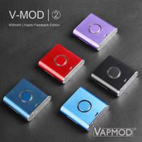 Аутентичные аккумуляторные аккумуляторы VAPMOD VMOD 2 II 900mAh предварительно нагрев VV вариабельный напряжение аккумулятор Vape Box MOD для резервуара для картриджа 510
