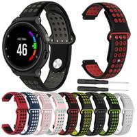 Mulheres Homens Rubber Watch Band Strap Por Garmin Forerunner 220 230 235 630 620 735 Abordagem S20 S5 S6 Pulseira Silicone Strap loop