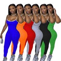2XL-Sommer-Frauen Normallack Schlingen Overalls beiläufige dünnen schwarzen Ärmels Fitness-Strampler Bodys grau Sport Stapel Hosengamaschen 3638