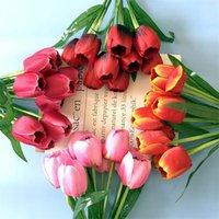 """Falso Tulip (9 cabezas / manojo) 15.75"""" Longitud Simulación gesn para la boda decorativo del hogar flores artificiales"""