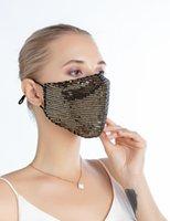 Maske Pailletten Cotton Mode Abenddämmerung Reusability Gewaschene Masken Erwachsene Dame Summer verhindern, dass Staub Baumwolle Maske LJJA907