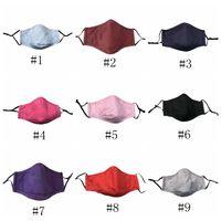 Yetişkin Yıkanabilir Katı Renk Bezi Ağız Maskesi PM2.5 Toz Geçirmez Ve Smog Yüz Maskesi Kullanımlık Yüz Maskesi EEA1563