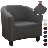 Elástica café Sofá Sillón de hidromasaje cubierta de asiento del Spandex del poliester lavable Protector de muebles estiramiento de fundas para sillas de Inicio Decoración