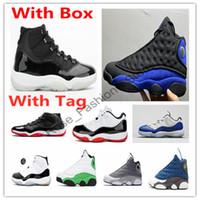 11 25 Aniversario 2.0 Negro Concord criado atasco del espacio zapatos de baloncesto 11s 13s Gamma Azul 13 Hyper Real Flint Ambiente zapatillas gris