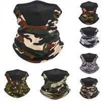 Camouflage Magic Scarf 7 Colors Women Men UV Protection Mask Outdoor Sports Cycling Dustproof Breathable Bandana Designer Masks LL164
