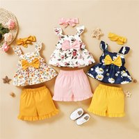 New 2020 Baby Girl Clothes Set Summer Toddler Kids Floral Sl...