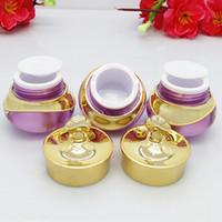 5g / 10g Esvaziar Jar Cosmetic Pacote de cristal acrílico com UV Crown Cap recarregáveis garrafa de Cream Eye Portátil Viagem Creme Box