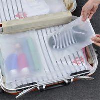 السفر حقيبة التخزين متجمد سميكة من البلاستيك Reclosable زيبر كيس بولي منظم التخزين والتغليف للحصول على حقيبة ملابس أحذية مجوهرات