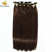 Кутикулы выравниванием человеческих волос U наконечник Pre-стружечных ногтей волос высокого качества Silky Straight человеческих волос Пучки 100 нитей пакет 12-28inch