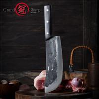 8-Zoll-Chef Cleaver Messer Chopper Slicing Kochen Werkzeuge Handgemachte Küche Chef Messer Traditionelle chinesische Art Pro Sharp Slaughter Messer