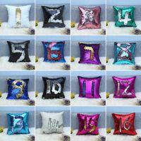 32 цвета блестки блесток наволочка русалка подушка подушка подушка магический бросок подушка дома декоративный автомобиль диван наволочка BWC1061